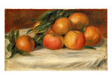 Still Life with Apples and Oranges, C.1901 Premium Giclee Print by Pierre-Auguste Renoir