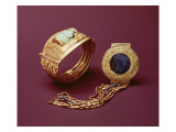 Two Bracelets, from the Tomb of Tutankhamun Reproduction procédé giclée par Egyptian 18th Dynasty