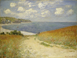 Path in the Wheat at Pourville, 1882 Premium Giclee Print by Claude Monet
