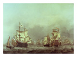 The Surrender of the Royal Prince, 3rd June, 1666 Giclee Print by Willem Van De, The Younger Velde