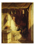 Turkish Merchant Smoking in His Shop, 1844 Giclee Print by Alexandre Gabriel Decamps