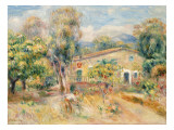 Collettes Farmhouse, Cagnes, 1910 Giclee Print by Pierre-Auguste Renoir