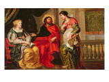 45:Christ in the House of Mary and Martha Giclee Print by Cornelis de Vos