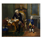 Frederick the Great and His Grandnephew Giclée-tryk af German School