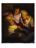 The Sense of Touch: the Stone Operation Giclee Print by  Rembrandt van Rijn