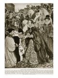 Queen Mary Entering London, 1553 Giclee Print by John Byam Shaw