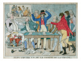 Seven Against One, or the Vaccine Committee, C.1800 Giclee Print by French School