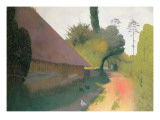 The Barn with the Great Thatched Roof, 1911 Gicl&#233;e-Druck von F&#233;lix Vallotton