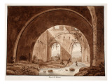 The Stables of the Villa Maecenas, 1833 Giclee Print by Agostino Tofanelli