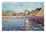 Port-En-Bessin, Calvados, C.1884 Gicleetryck av Paul Signac