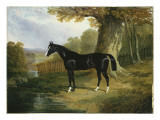 A Dark Hunter in a River Landscape, 1832 Giclee Print by John Frederick Herring Snr