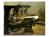 Weaver at the Loom, Facing Right, 1884 Giclee Print by Vincent van Gogh