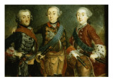 Paul, Frederick Ii and Gustav Adolph of Sweden Giclee Print by  German School