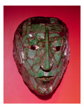 Mosaic Mask, from Palenque, Chiapas Giclee Print by  Mayan