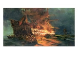 The Loss of the Ajax, Off Cape Janissary Giclee Print by Konstantinos Bolanachi