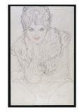 Portrait with Right Hand on Chin, C.1917-18 Giclee Print by Gustav Klimt