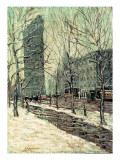 The Flatiron Building, New York, C.1903-05 Premium Giclee Print by Ernest Lawson