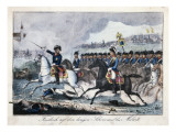 Frederick on His White Horse Near Molwitz Giclee Print by  German School