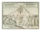 Satirical Illustration of the Spanish Inquisition Giclee Print by  Dutch School