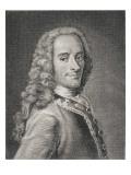 Francois Marie Arouet De Voltaire Giclee Print by Maurice Quentin de La Tour