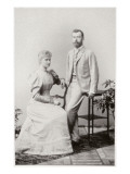Nicky and Alix after their Betrothal, Coburg, 1894 Giclee Print by  German photographer