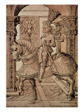 Emperor Maximilian I Riding a Horse, 1518 Giclee Print by Hans Burgkmair