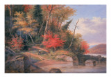 Carrying a Canoe to the River, St. Maurice Giclee Print by Cornelius Krieghoff