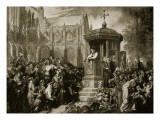 Latimer Preaching at St. Paul's Cross Giclee Print by Sir George Hayter