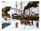 Peary's Expedition to the North Pole Giclee Print by English School