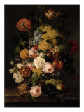 Still Life - Roses, Tulips and Other Flowers Giclee Print by  Petter