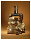 Vessel with Puma, Chavin Culture, C.90 Bc Giclee Print by Peruvian School