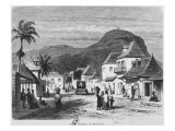 View of Port Louis, Rue Desforges, Mauritius, 1861 Giclee Print by  French School