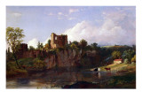 Chepstow Castle, on the Wye, 1854 Reproduction procédé giclée par Jasper Francis Cropsey