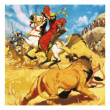 King Darius of Persia Hunting Lions Giclee Print by  Mcbride