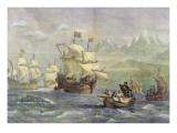 The Discovery of the Strait of Magellan Giclee Print by Oswald Walter Brierly