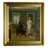 Goethe Dictating to His Clerk John, 1834 Giclee Print by Johann Joseph Schmeller
