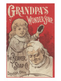Advertisement for Grandpa's Wonder Soap, C.1898 Premium Giclee Print by  American School