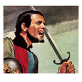 Henry V at the Siege of Harfleur in France Giclee Print by  English School