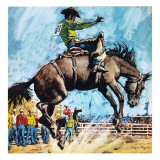 Larry Mahan, Superstar of the Rodeo Giclee Print by  Payne