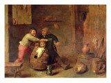 Peasants Quarrelling in an Interior Giclee Print by Adriaen Brouwer