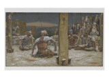 The Four Guards Sat Down and Watched Him Giclee Print by James Jacques Joseph Tissot