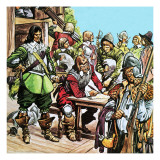 Re-Enactment of the English Civil War Giclee Print by Peter Jackson