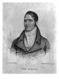 Tom Spring, Engraved by Percy Roberts Giclee Print by George Sharples