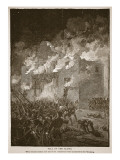 Fall of the Alamo, from a Book Pub. 1896 Reproduction proc&#233;d&#233; gicl&#233;e par Alfred Rudolf Waud