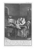 Heloise and Abelard in their Study Giclee Print by Jean Michel Moreau The Younger