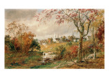 Autumn Landscape, Saugerties, 1886 Giclee Print by Jasper Francis Cropsey