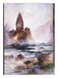 Tower Falls and Sulfur Rock, Yellowstone Premium Giclee Print by  Moran