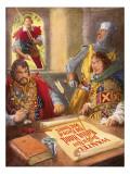 Robin Hood Humiliating Prince John Giclee Print by John Millar Watt