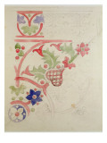 Floral Design for the House of Lords' Library Giclee Print by Augustus Welby Northmore Pugin