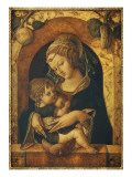 The Madonna and Child at a Marble Parapet Giclee Print by Carlo Crivelli